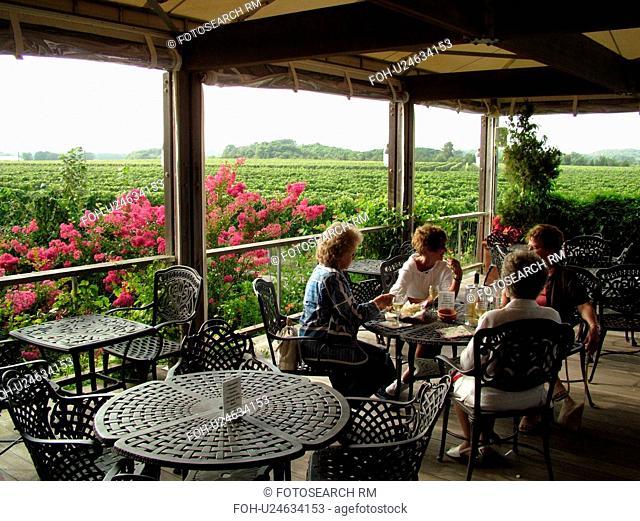 Mattituck, NY, Long Island, New York, Macari Vineyards and Winery, wine tasting, porch
