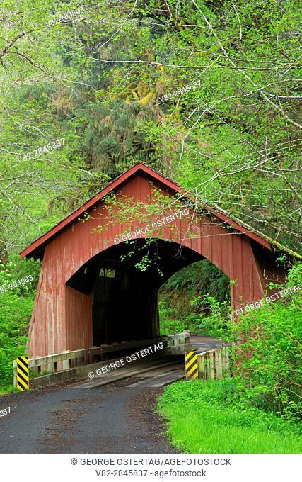 North Fork Yachats River Covered Bridge, Lincoln County, Oregon