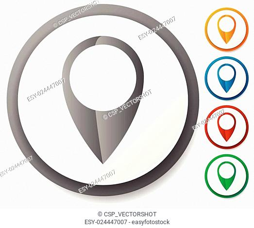 Map marker / map pin icon set. Location, destination, travel concepts