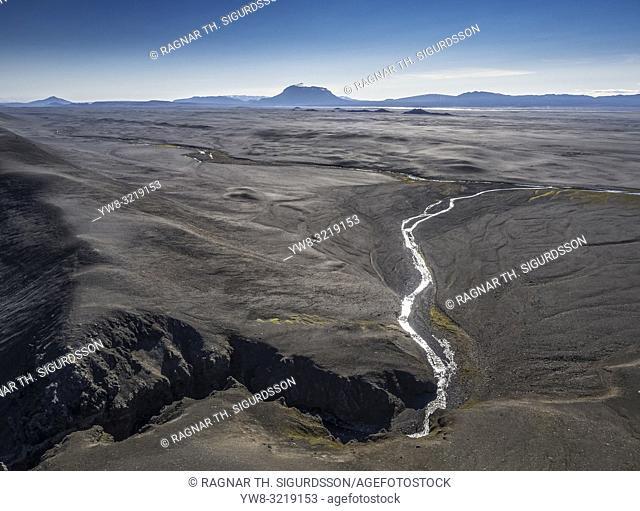 Modrudalur valley, Mt. Herdubreid, Northern Iceland