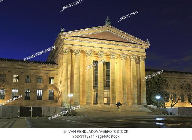 Philadelphia Museum of Art at Night, Pennsylvania, USA