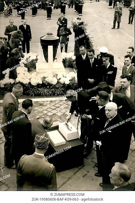 Jun. 06, 1958 - Joan of Ark Celebrations in Rouen: Joan of ark Celebrations and the reopening of the Cathedral damaged during the war were held in Rouen today