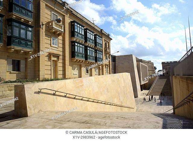 New Parlament Building by Renzo Piano Studio & AP Architects. Valletta, Malta. Contemporary Architecture