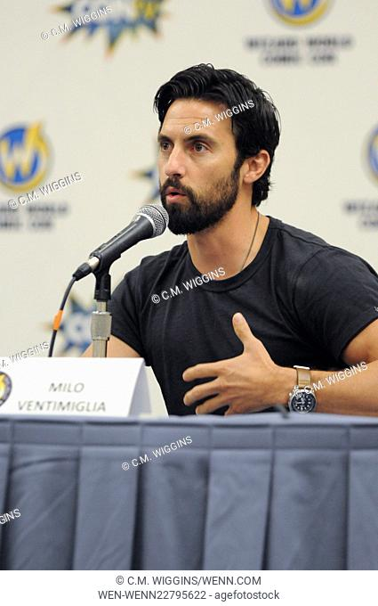 Wizard World Comic Con Chicago 2015 at the Donald E. Stephens Convention Center in Rosemont - Day 2 - Inside Featuring: Milo Ventimiglia Where: Rosemont