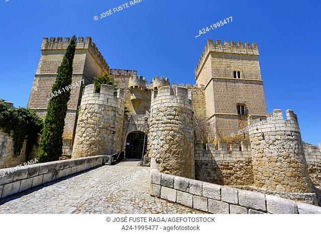 Spain, Castilla Leon Community, Palencia Province , Ampudia City, Ampudia Castle