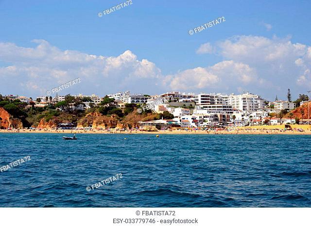 Beach Olhos de ?gua, Albufeira, Algarve, Portugal summer