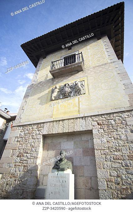 Cangas de Onis town in Asturias Spain on September 9, 2019. Pintu palace