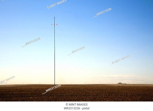 Communications Tower in a Field