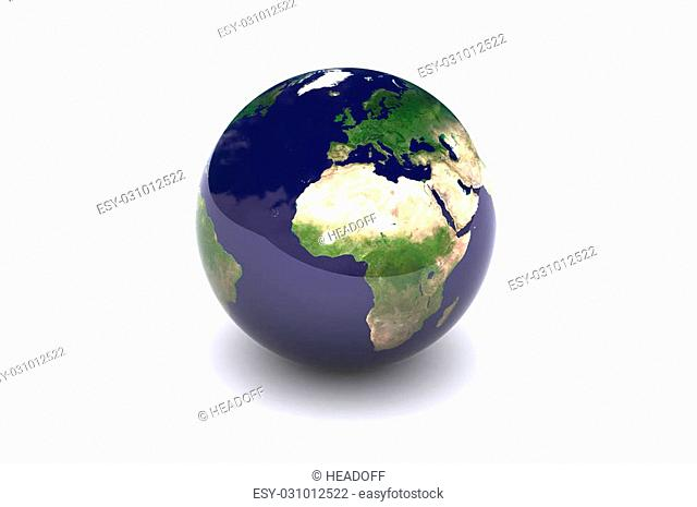 A Colorful 3d Rendered Earth Globe Europe Illustration