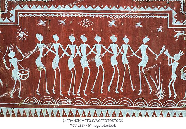 Tribal painting at Koraput ( Odisha state, India)