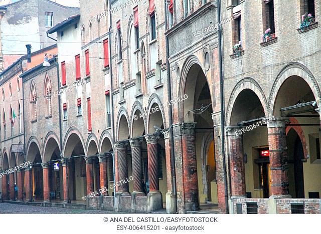 Santo Stefano square in italian town Bologna Emilia Romagna Italy