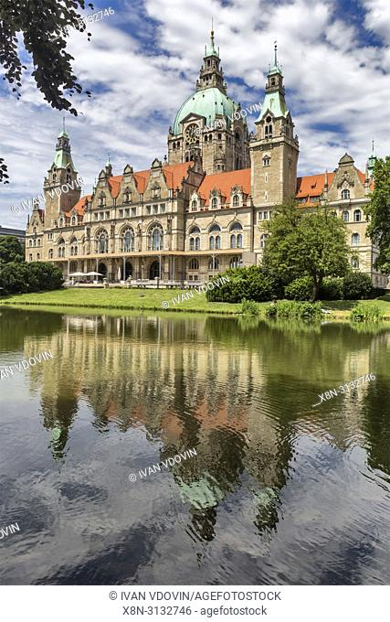 New City Hall, Neues Rathaus (1913), Hanover, Lower Saxony, Germany