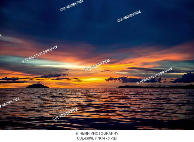 Sunset in Raja Ampat, Sorong, Nusa Tenggara Barat, Indonesia