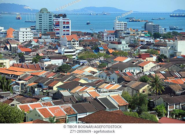 Malaysia, Penang, Georgetown, aerial view,