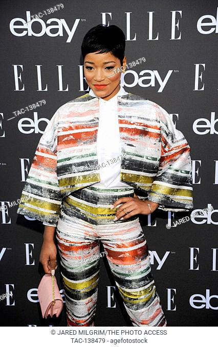 Actress Keke Palmer arrives at the 6th Annual ELLE Women In Music Celebration presented by eBay at Boulevard3 on May 20th, 2015 in Hollywood, California