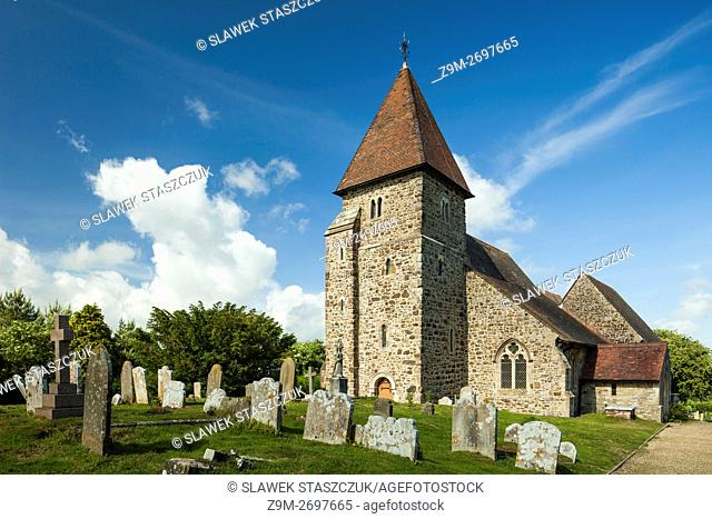 St Laurence church in Guestling, East Sussex, England