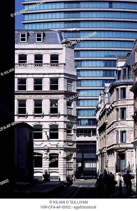 elevation and context, sun, shadow, Austen Friars church - Austen Friars, City of London, LONDON, UNITED KINGDOM, Architect