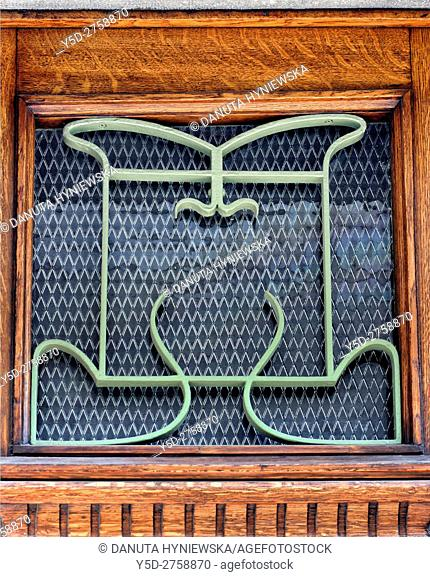 Architectural detail - Hotel Tassel town house built by Victor Horta for the Belgian scientist and professor Emile Tassel in 1893–1894