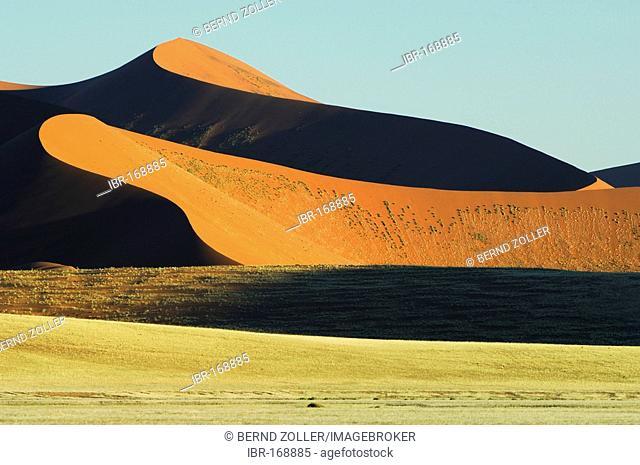 Dune in first light Namibdesert Namibia Afrika