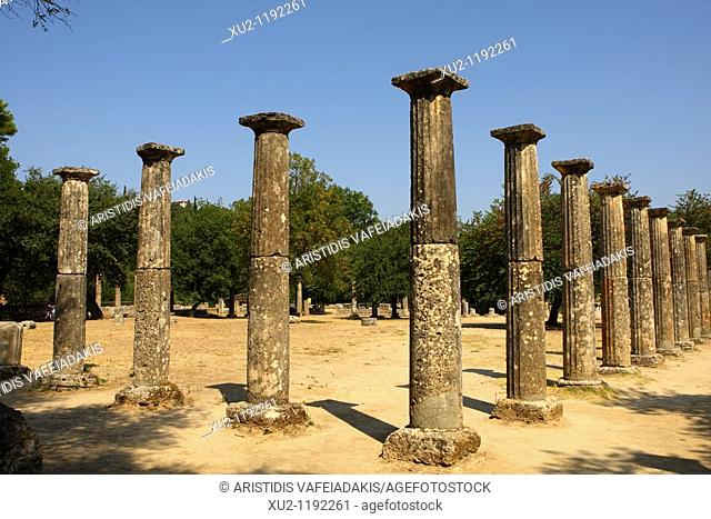 Palaestra 3rd century B C  in ancient Olympia