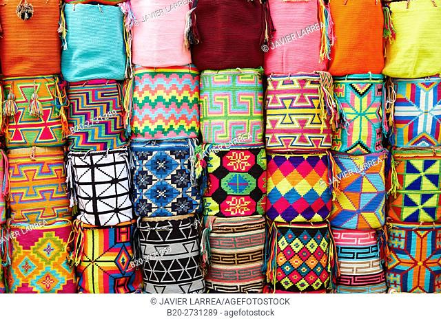 Colorful textiles, Handicraft, Cartagena de Indias, Bolivar, Colombia