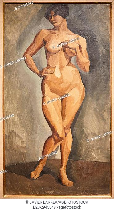 Nu debout de face, 1910, Roger de La Fresnaye, Musée d'Art Moderne, Troyes, Champagne-Ardenne Region, Aube Department, France, Europe