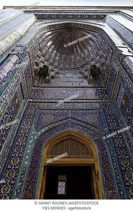 Shirin Beka Oka Mausoleum, The Shah-i-Zinda Mausoleum Complex, Samarkand, Uzbekistan