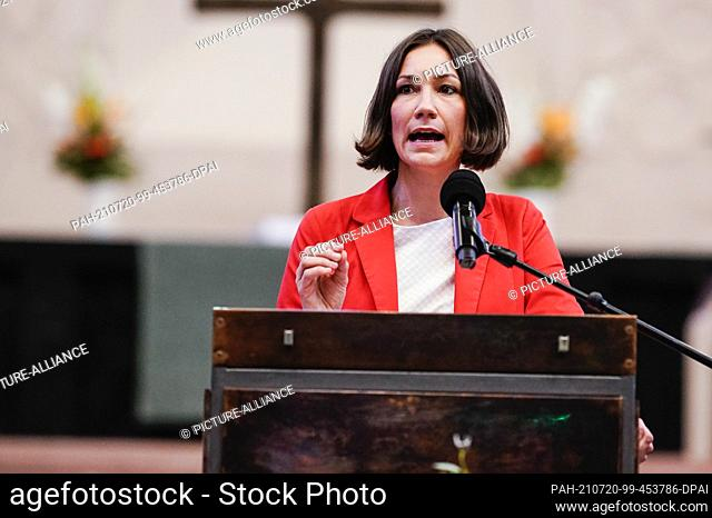 20 July 2021, Rhineland-Palatinate, Worms: Anne Spiegel, Deputy Prime Minister of Rhineland-Palatinate, speaks at the Luther Award ceremony in the...