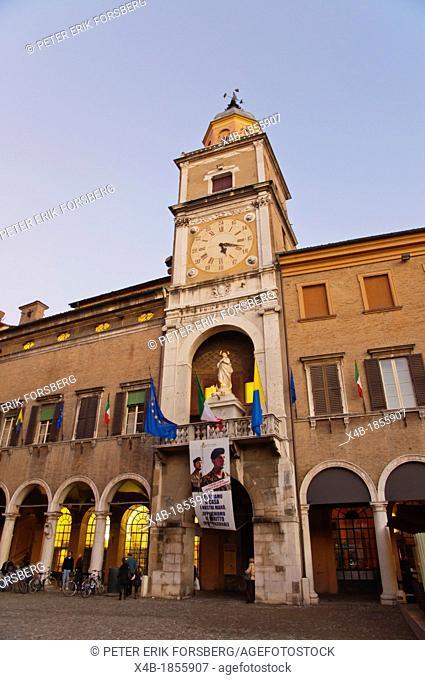 Palazzo Comunale at Piazza Grande square central Modena city Emilia-Romagna region central Italy Europe