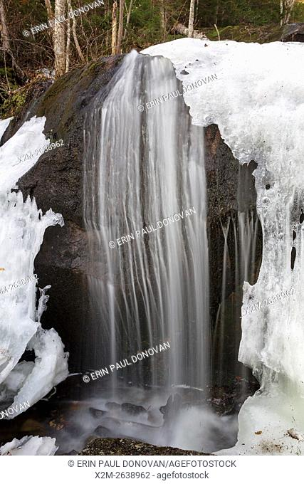 Cascade along Porcupine Brook, a tributary of Lost River, in Kinsman Notch of Woodstock, New Hampshire USA during the spring months