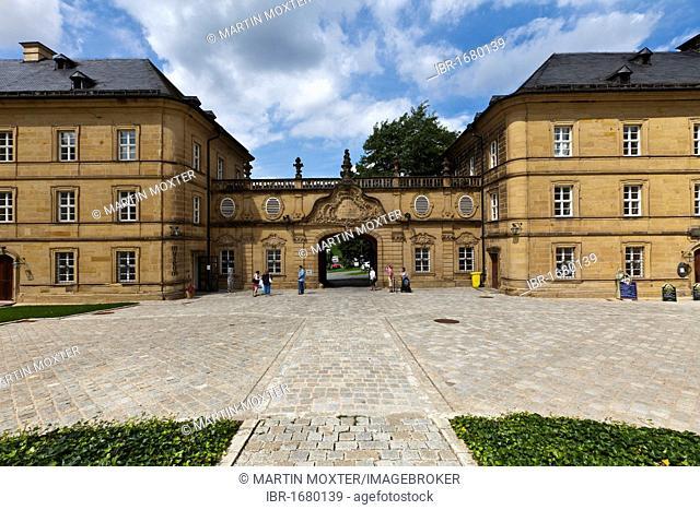 Banz Abbey, a former Benedictine monastery, near Bad Staffelstein, Lichtenfels, Upper Franconia, Bavaria, Germany, Europe