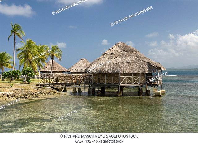 Over the water huts, Yandup Island, San Blas Islands also called Kuna Yala Islands, Panama