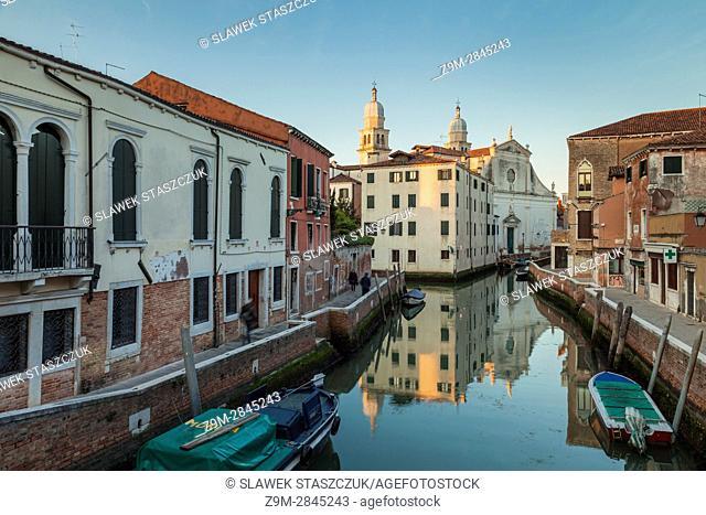 Sunrise in the sestiere of Dorsoduro, Venice, Italy