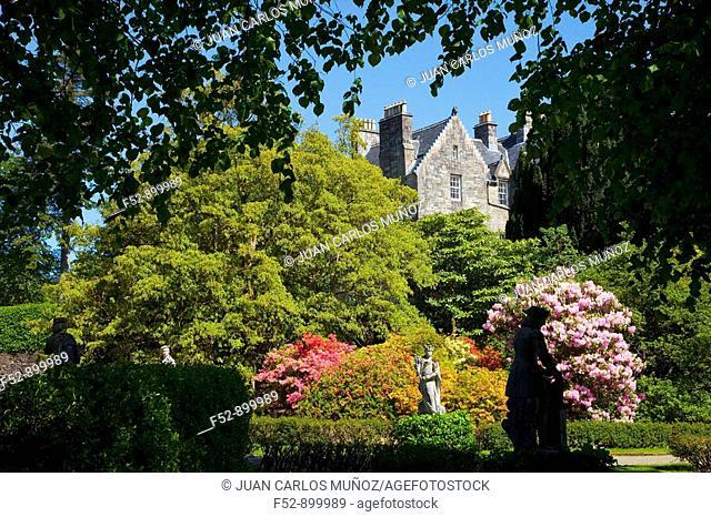 Torosay Castle gardens, Isle of Mull, Inner Hebrides, Scotland, UK