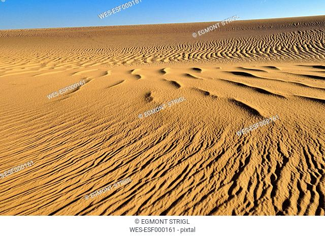 Algeria, Sahara, View of sand dunes