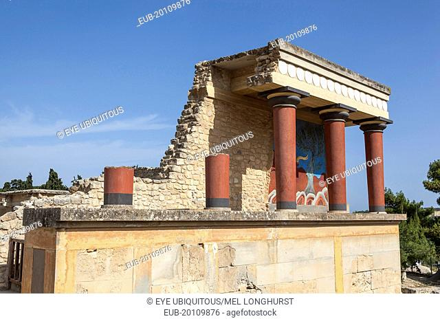 The north entrance, Knossos Palace