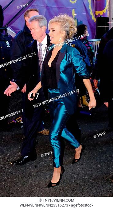 Celebrities at 2016 New Years Eve in Times Square Featuring: Carrie Underwood Where: Manhattan, New York, United States When: 31 Dec 2015 Credit: TNYF/WENN