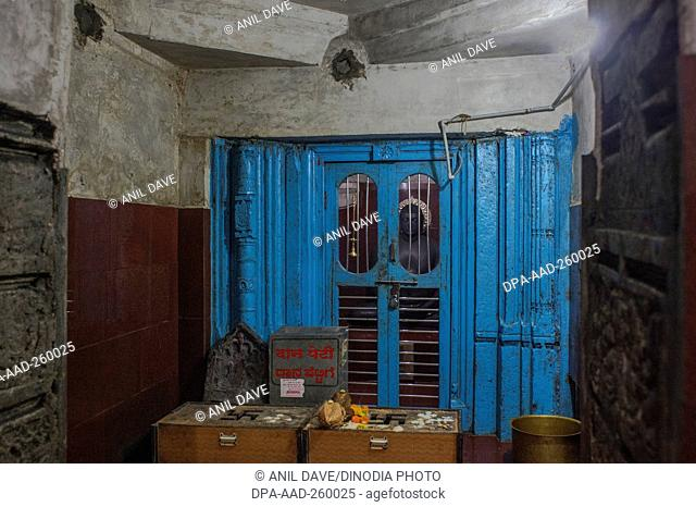 interior of Digambar Jain Temple Kagvad, belgaum, karnataka, India, Asia