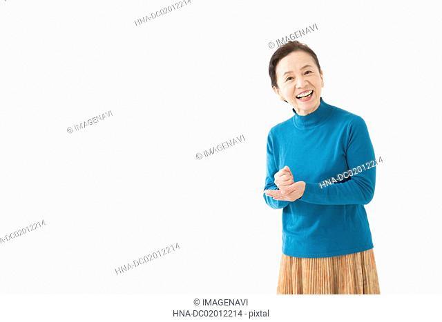 Senior woman convincing