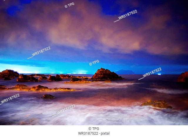 ocean and sky with magic atmosphere