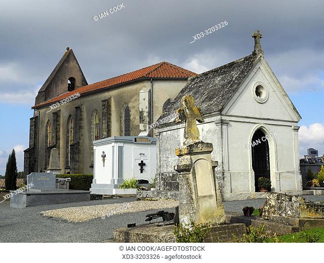 Eglise Monviel, Monviel, Lot-et-Garonne Department, Nouvelle Aquitaine, France