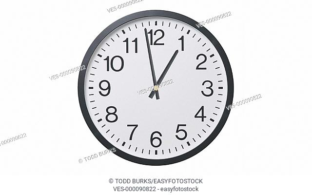 Time lapse of twelve hours on clock, loopable