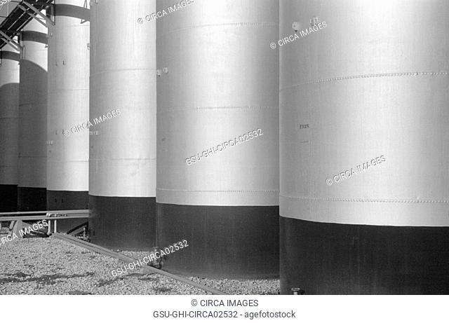 Oil Tanks, Lincoln, Nebraska, USA, John Vachon for Farm Security Administration, October 1938