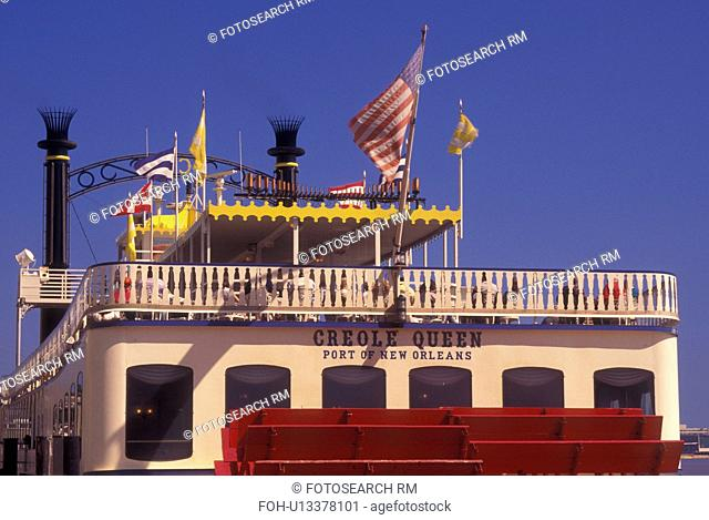 New Orleans, LA, Louisiana, Mississippi River, Creole Queen Riverboat