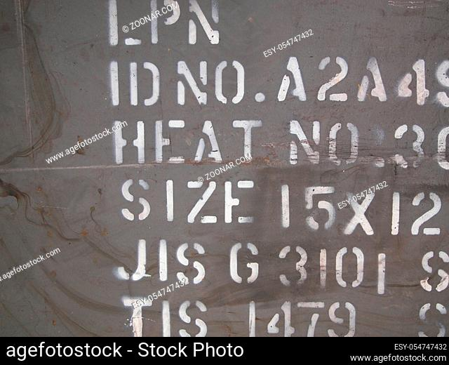 Details of an old grungy army aircraft