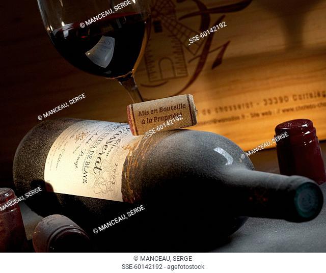 Bottle of Moulin de Chasserat red wine