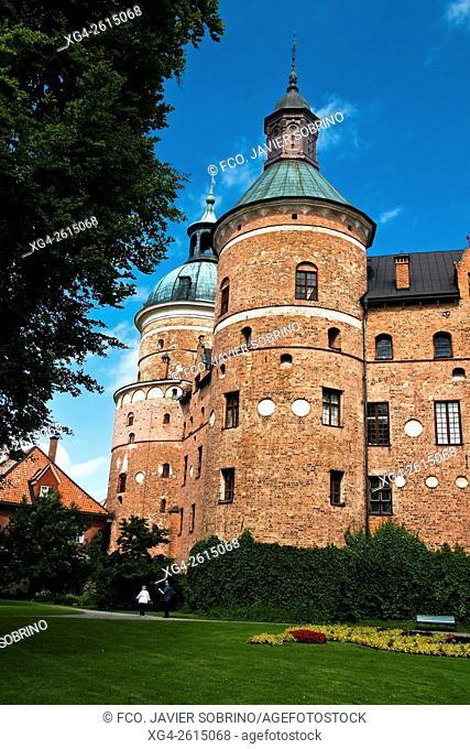 """Castillo de Gripsholm en Mariefred, ciudad sueca del municipio de Strangnas a orillas del lago Malaren â. """" Provincia de Sodermanland â. """" Suecia â"""