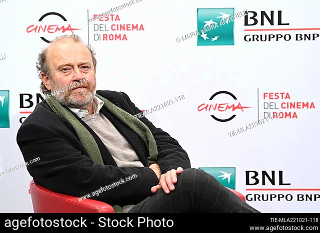 The director Gianfranco Pannone during the photocall of film 'Onde radicali' at the 16th Rome Film Festival, Rome, ITALY-22-10-2021
