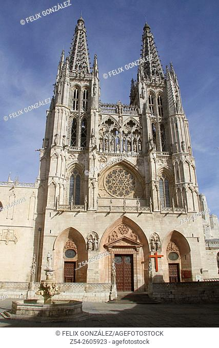 Gothic cathedral (13th century) Burgos. Castilla -Leon Spain
