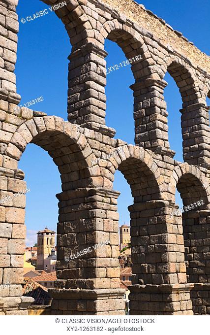 Segovia, Segovia Province, Spain  The Roman aqueduct  UNESCO World Heritage Site
